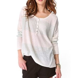 Free People Beach Gold Rush Henley sweater XS